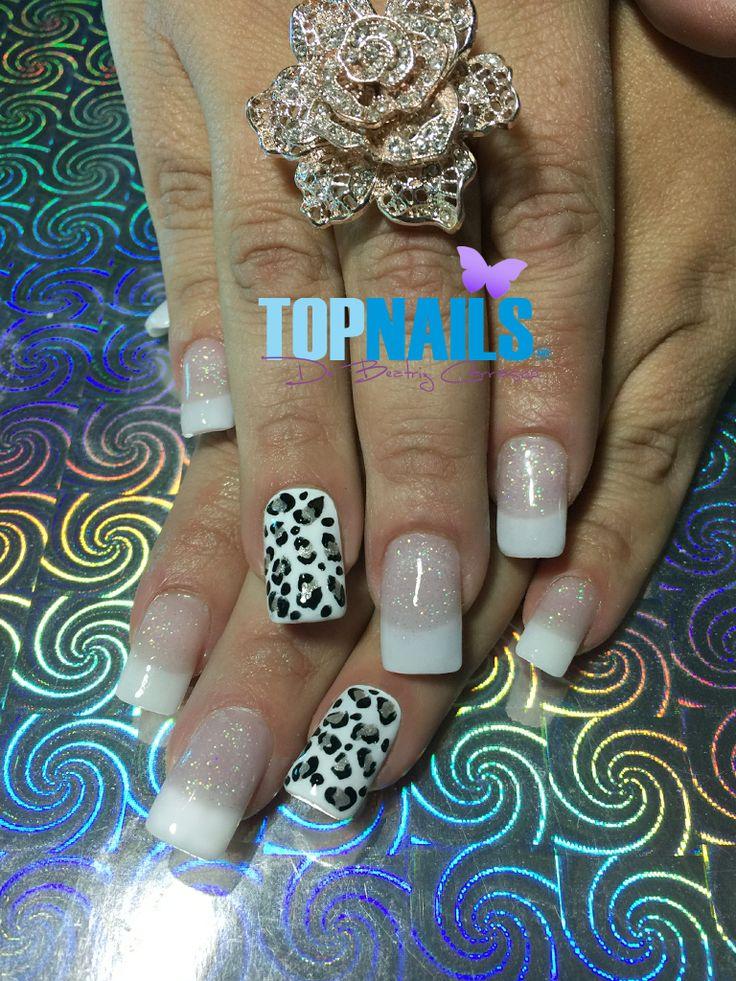 Uñas Acrílicas francesas y animal print (Acrylic Nails french and animal print)  Hazte Fans o Me Gusta  en https://www.facebook.com/topnails.cl   www.topnails.cl ☎94243426, saludos Beatriz