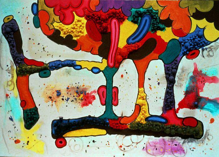 CARROLL DUNHAM http://www.widewalls.ch/artist/carroll-dunham/ #contemporary #art #painting