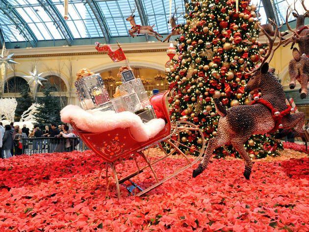 Las Vegas Bellagio Botanical Gardens Holiday Decorations