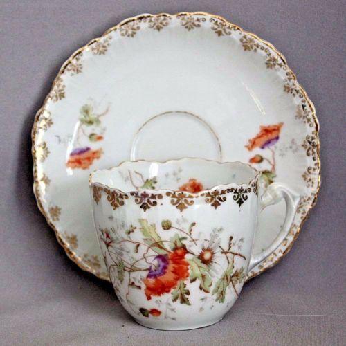 Details about Antique Germany KPM Porcelain Two Roses Floral