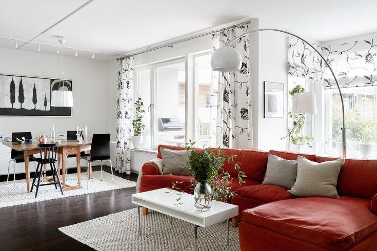 Casa de estilo sueco ¡cada estancia de un color!