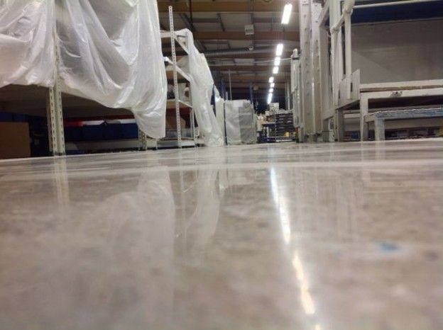 Polished Concrete Factory Floor Leicestershire - 12258