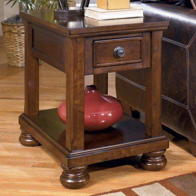rustic brown chair side end table by ashley furniture 3796t living room
