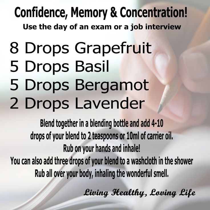 Confidence, Memory and Concentration blend #essentialoils