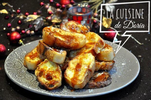 Pain perdu à la crème de Caramel au beurre salé - La cuisine de Doria