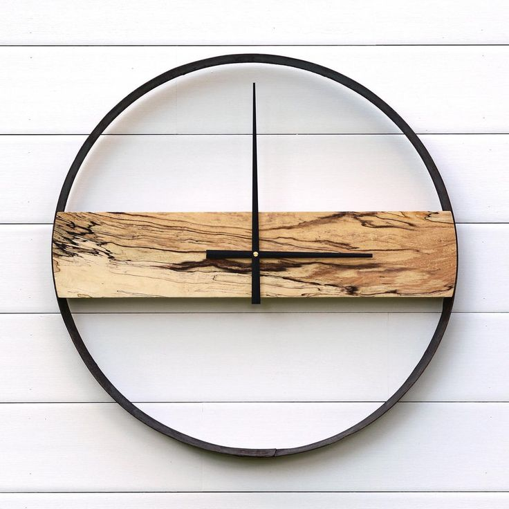 BOLIVER DESIGN CO | Reclaimed Wood + Whiskey Barrel Ring Clock by Boliver Design Co | Reclaimed + Handcrafted Home Decor
