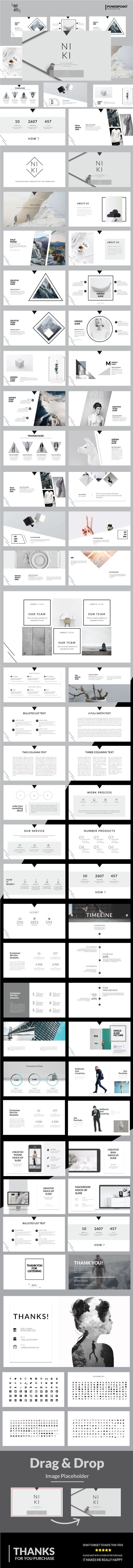 Niki Multipurpose Powerpoint Template - #Business #PowerPoint #Templates Download here: https://graphicriver.net/item/niki-multipurpose-powerpoint-template/19448510?ref=alena994
