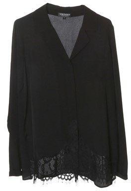 Twin-Set Women's Black Silk Blouse.