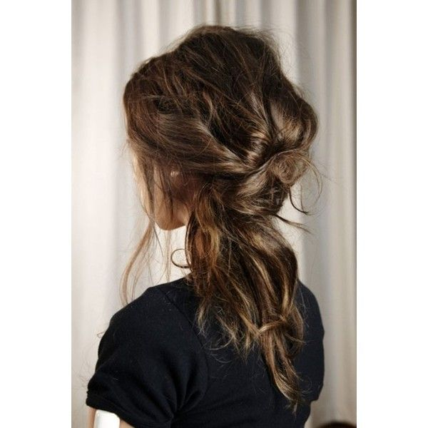 Messy Hair Tumblr Found On Polyvore Messy Hairstyles Hair Styles Long Hair Styles