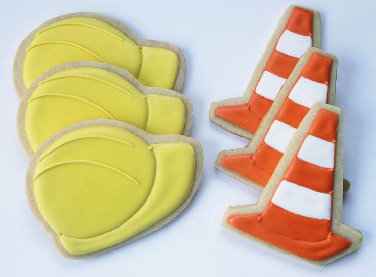Construction Party Cookies - Hard Hats & Orange Cones