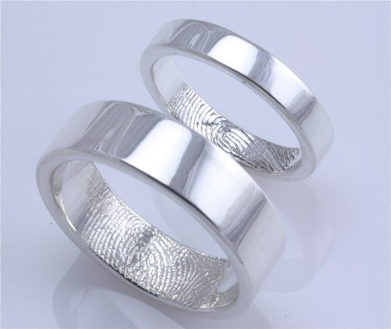 Sterling Silver Custom Single Fingerprint Tip von fabuluster