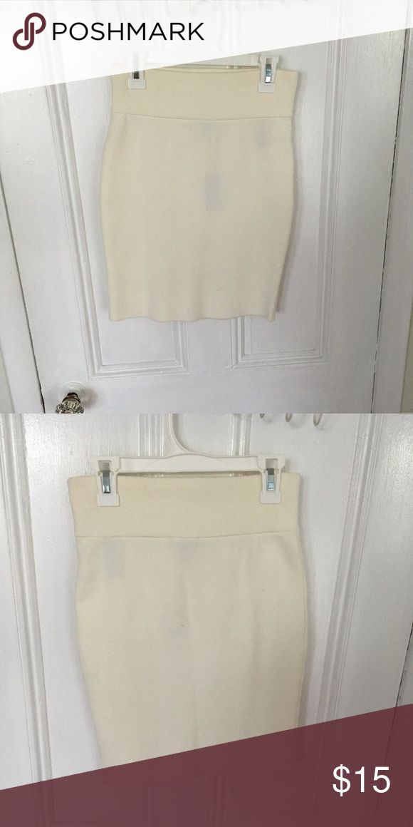 cream pencil skirt cream pencil skirt. NEVER WORN! great condition! great for events or work. Express Skirts Pencil