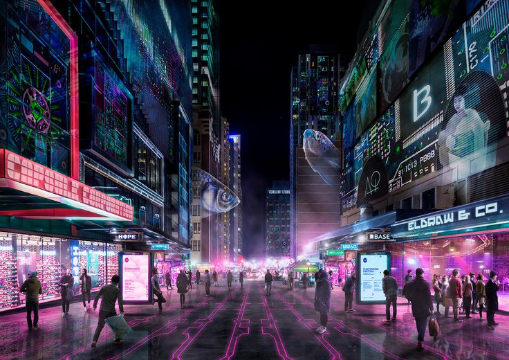 ArtStation - Cyber Punk Albert Street, Chris Wardle