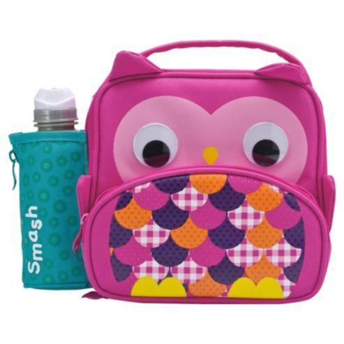 Smash 3D Owl Lunch Bag and Water Bottle Set
