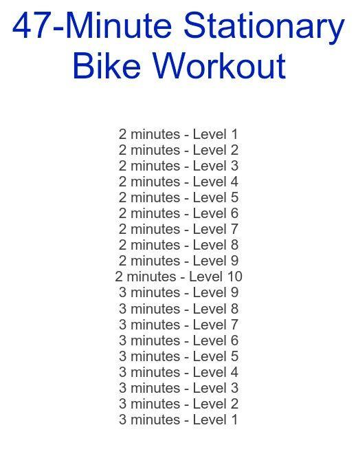 47-minute stationary bike workout