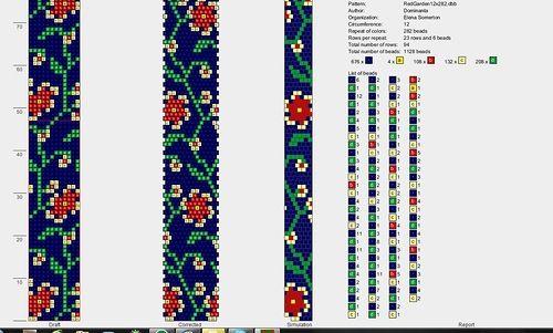 Crochet bead pattern