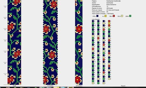 Crochet bead pattern