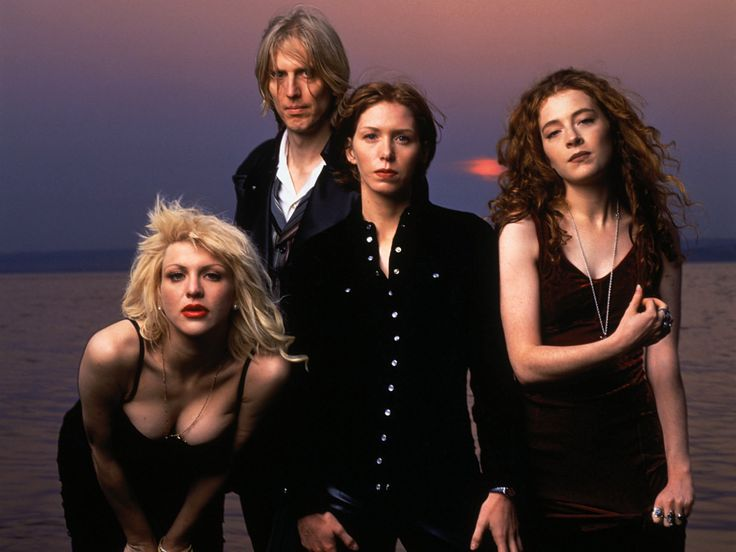 HOLE❤ Courtney Love, Eric Erlandson, Melissa Auf Der Maur, Patty Schemel I miss the old HOLE