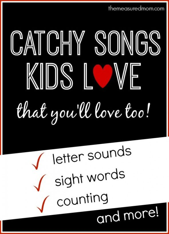 We love these songs that teach letter sounds... plus sight word songs and more!  Fun to listen to the in car - you'll hear your kids singing them in no time.