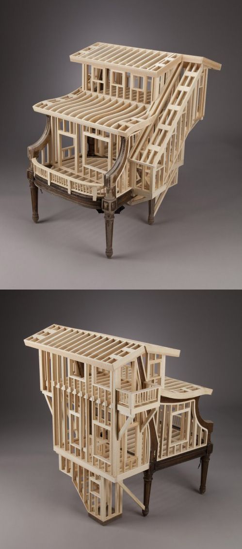 Architectural chair by Ted Lott