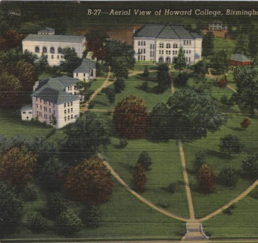 Aerial view of Howard College, Birmingham, Alabama :: Troy University Library
