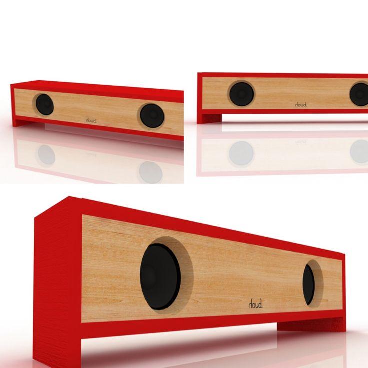 #design #render #red #wood