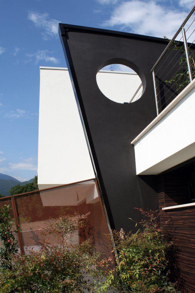 Particolare architettonico - progetto ville a Paratico - architettura