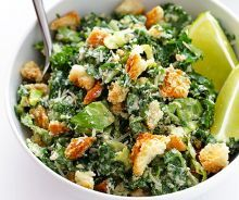 Salade césar au chou kale