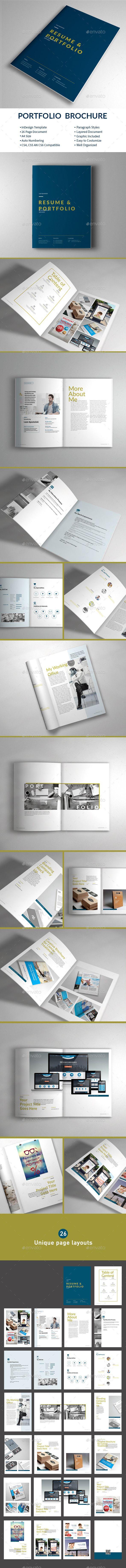 Portfolio Brochure Template InDesign INDD #design Download: http://graphicriver.net/item/portfolio-brochure-template/13715957?ref=ksioks
