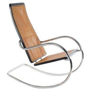 Marcel Breuer Bauhaus Art Deco Style Cane Rocking Chair Mid Century Modern Era