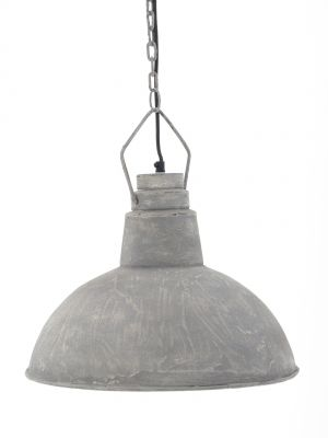 Hanglamp HH-1001 || € 159,00 || breed 40 cm hoog 30 cm lengte ketting 85 cm || Cementlaag || http://www.stoerelampen.nl/hanglampen/landelijke-lampen/hh1001/HH-1001/C/995/page/2