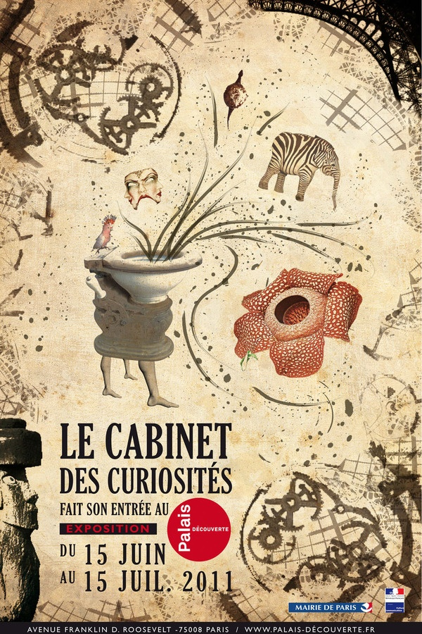 Affiche exposition cabinet de curiosit fictif by axelle gacon via behance - Cabinet de curiosite forum ...