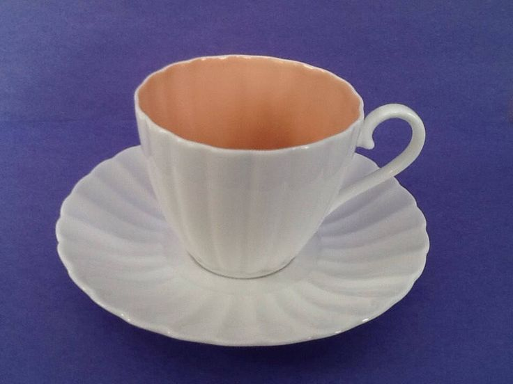 A personal favorite from my Etsy shop https://www.etsy.com/ca/listing/559943622/susie-cooper-peach-salmon-teacup-and