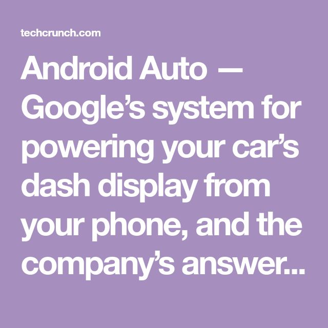 Android Auto — Google's system for powering your car's dash display from your phone, and the company's answer to Apple's CarPlay — is going wireless. You can leave your phon…