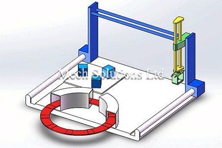 Motion Analysis of mechanical grabber, Solidworks, CAD, Service in Toronto, GTA, Canada