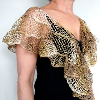 shawl made from sashay ruffle yarn.