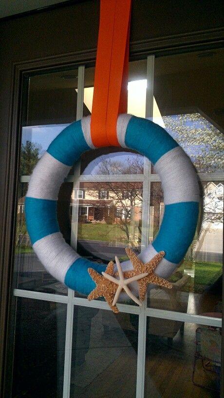 beach, nautical summer wreath #wreath #summer