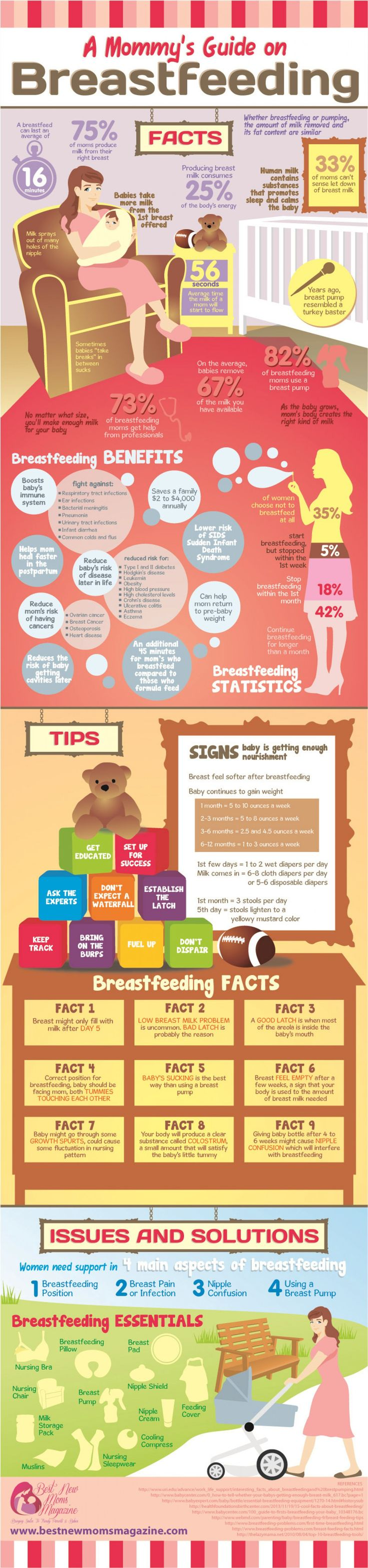 A Mommy's Guide on Breastfeeding Infographic