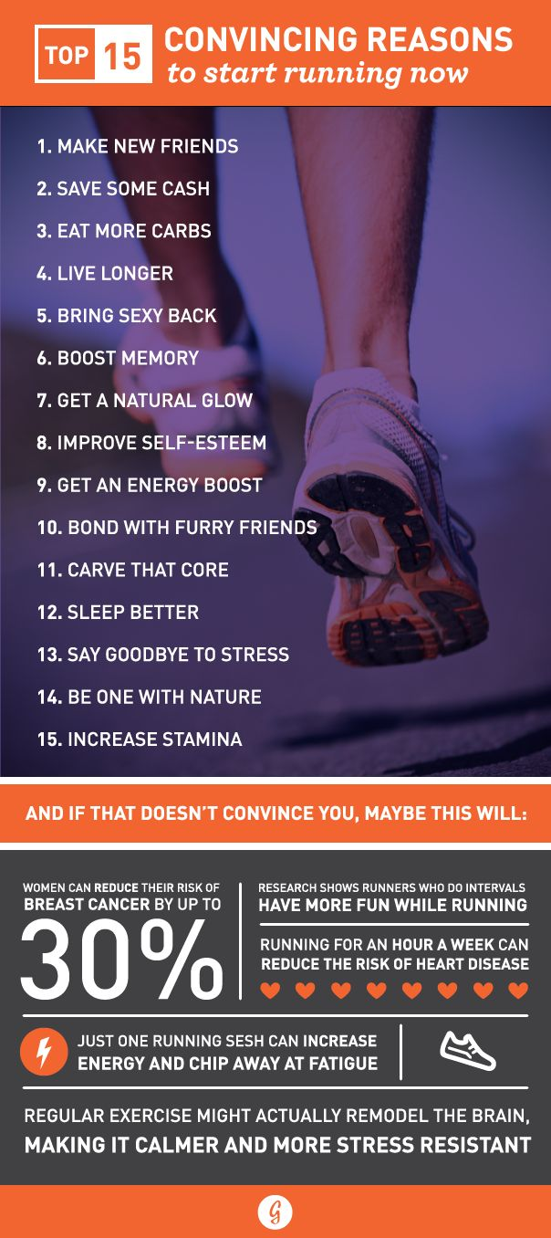 Reasons to start running (or continue!)