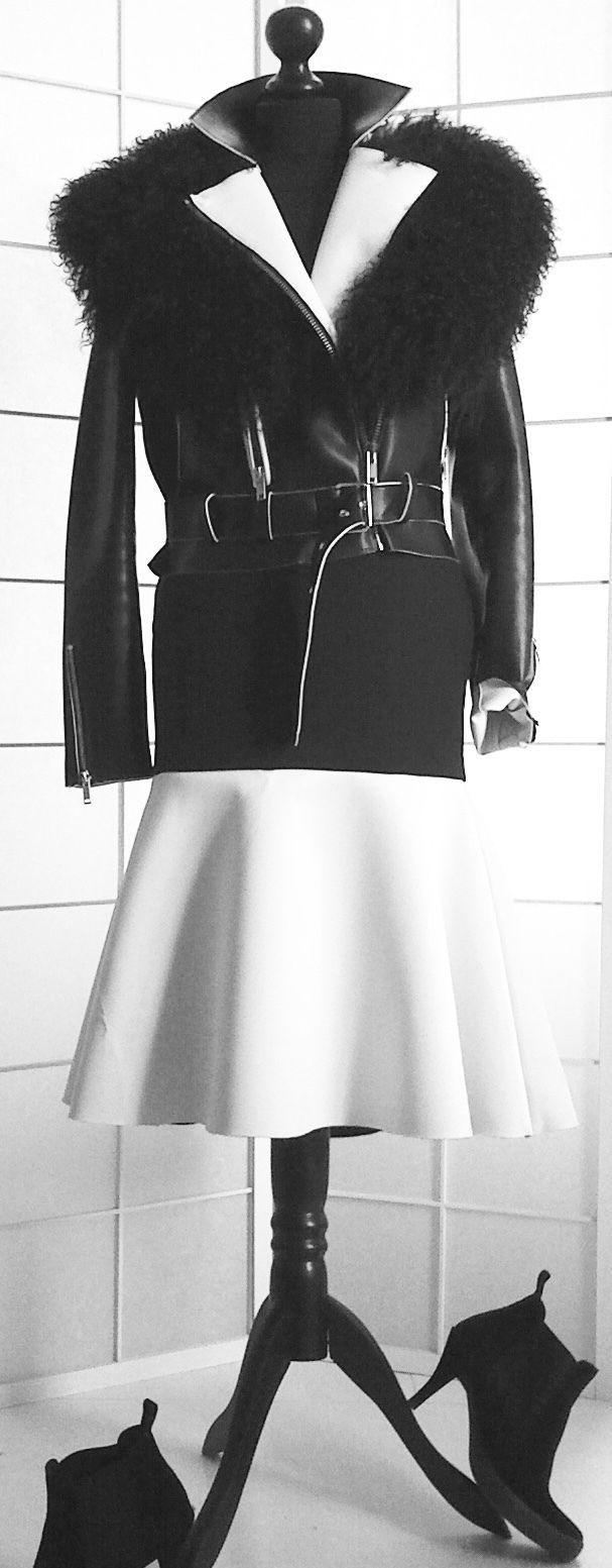 DAMEN-ROCK, schwarz-weiß, Größe 36/38 | eBay