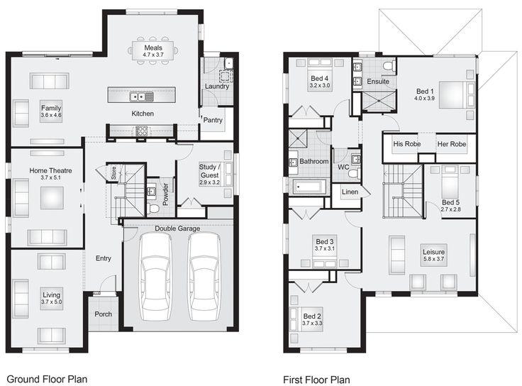 Sheridan 34    Floor Plan - 320.10sqm, 11.90m width, 17.50m depth    Clarendon Homes