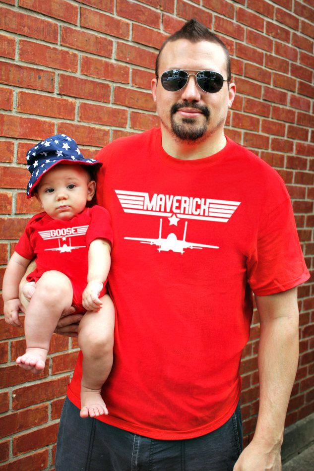 Excited to share the latest addition to my #etsy shop: 2 shirts | Father Son Matching Shirts | Maverick And Goose | Fathers Day Gift | New Baby | Father's Day | Daddy and Me | Vacation FREE Ship! http://etsy.me/2DAhtMi #clothing #men #tshirt #red #white #outfit #matchi