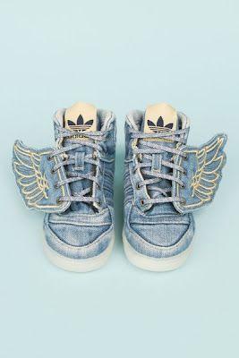 fly baby: Angel Wings, L'Wren Scott, Kids Sneakers, Kids Fashion, Kids Shoes, Kids Adidas, Stones Wash, Adidas Kids, Jeremy Scott
