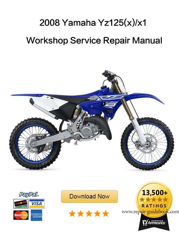 yamaha yz125 service repair workshop manual download 2006