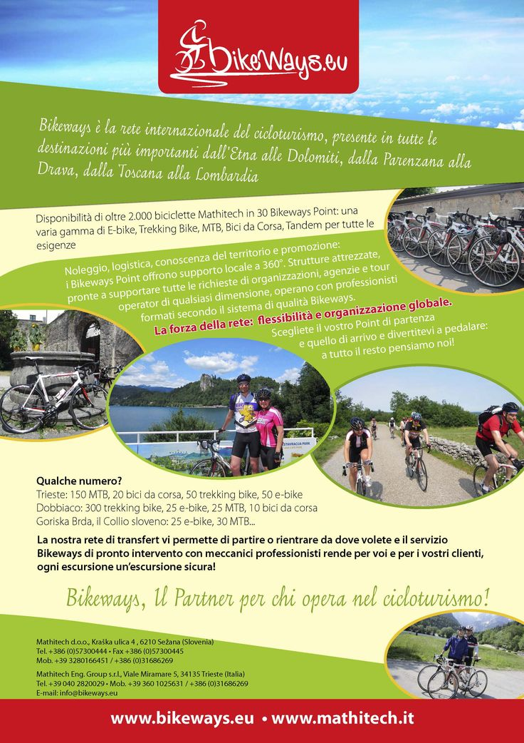 Bikeways, servizi e assistenza per cicloturisti e agenzie di viaggio
