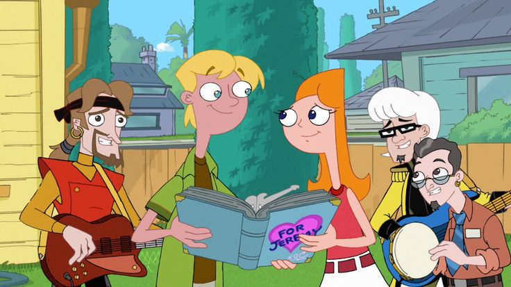 Phineas and isabella kissing on the lips