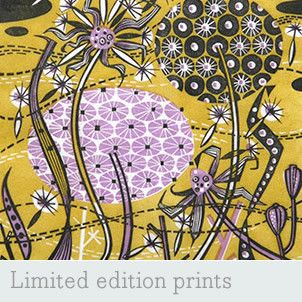 Welcome - Angie Lewin - printmaker - painter - designer