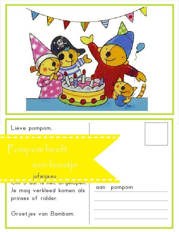 Er is er één jarig Kringactiviteit: Pompom heeft een feestje