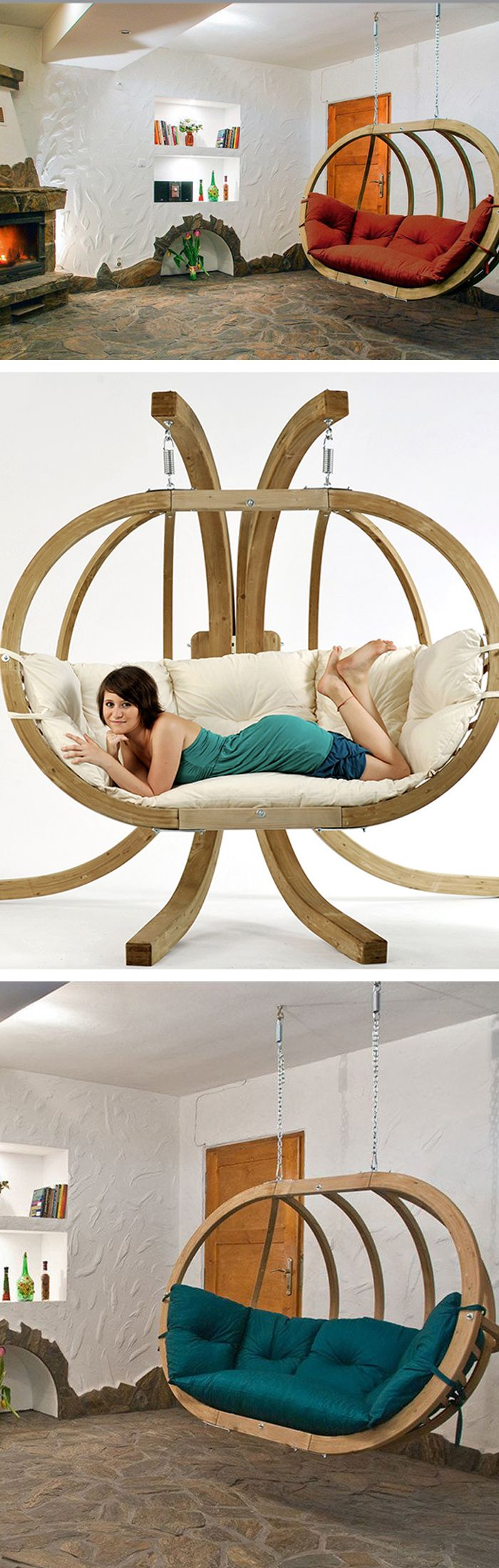 We love the Globo Hanging Chair because you can use it with the Royal Stand or hang it from the ceiling.   Hammocks > Couches.  https://hammocktown.com/collections/globo-hammocks
