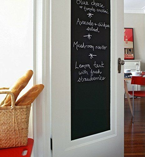 Fancy-fix Vinyl Peel and Stick Chalkboard Sticker with 5 Free Chalks 17.7 By 78.7 Inches fancy-fix